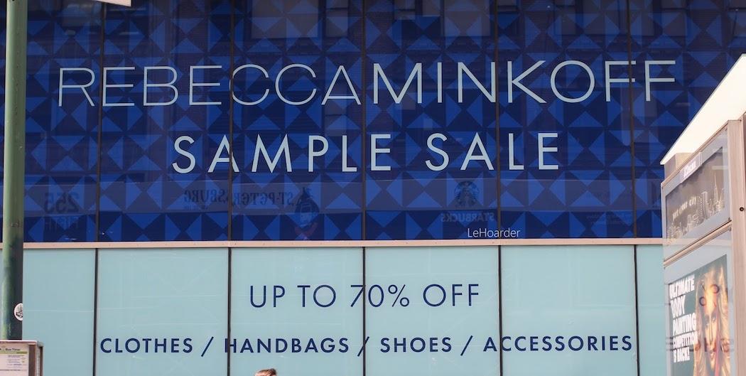 rebecca minkoff sample sale 2018