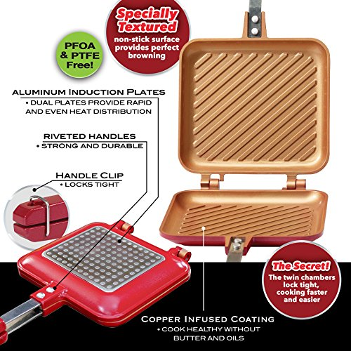 red copper panini maker instructions