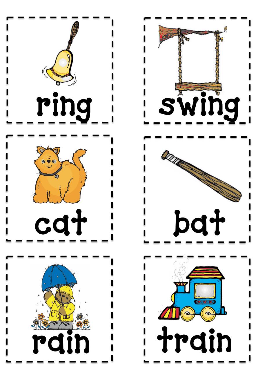 rhyming words flash cards pdf