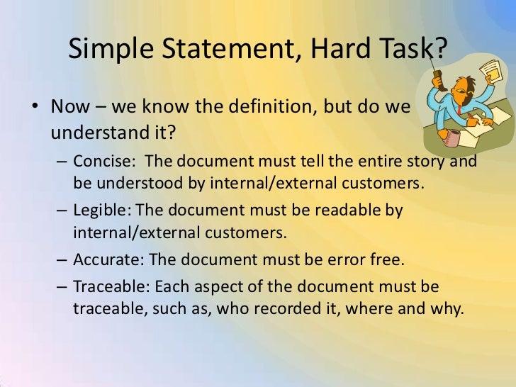 right documentation definition