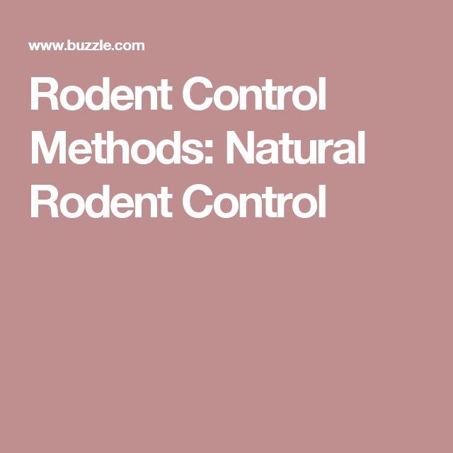 rodent control methods pdf