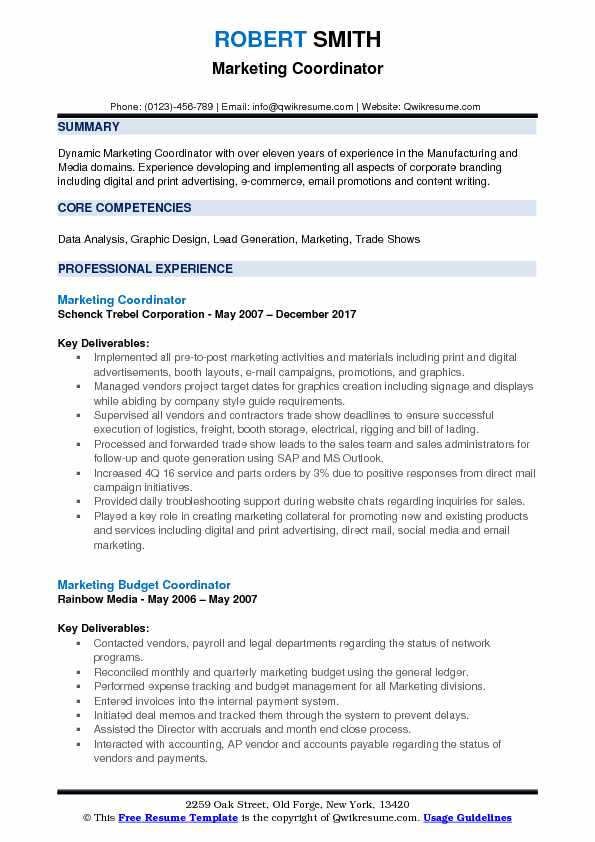 sales and marketing resume sample pdf