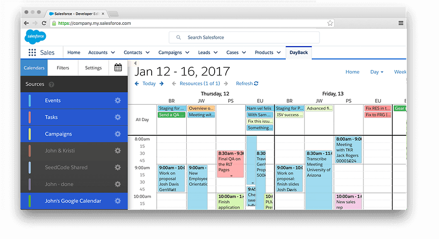 salesforce schedule application