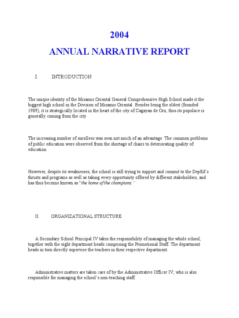 sample foreword for annual report