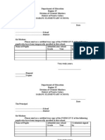 sample letter request for form 137 for child