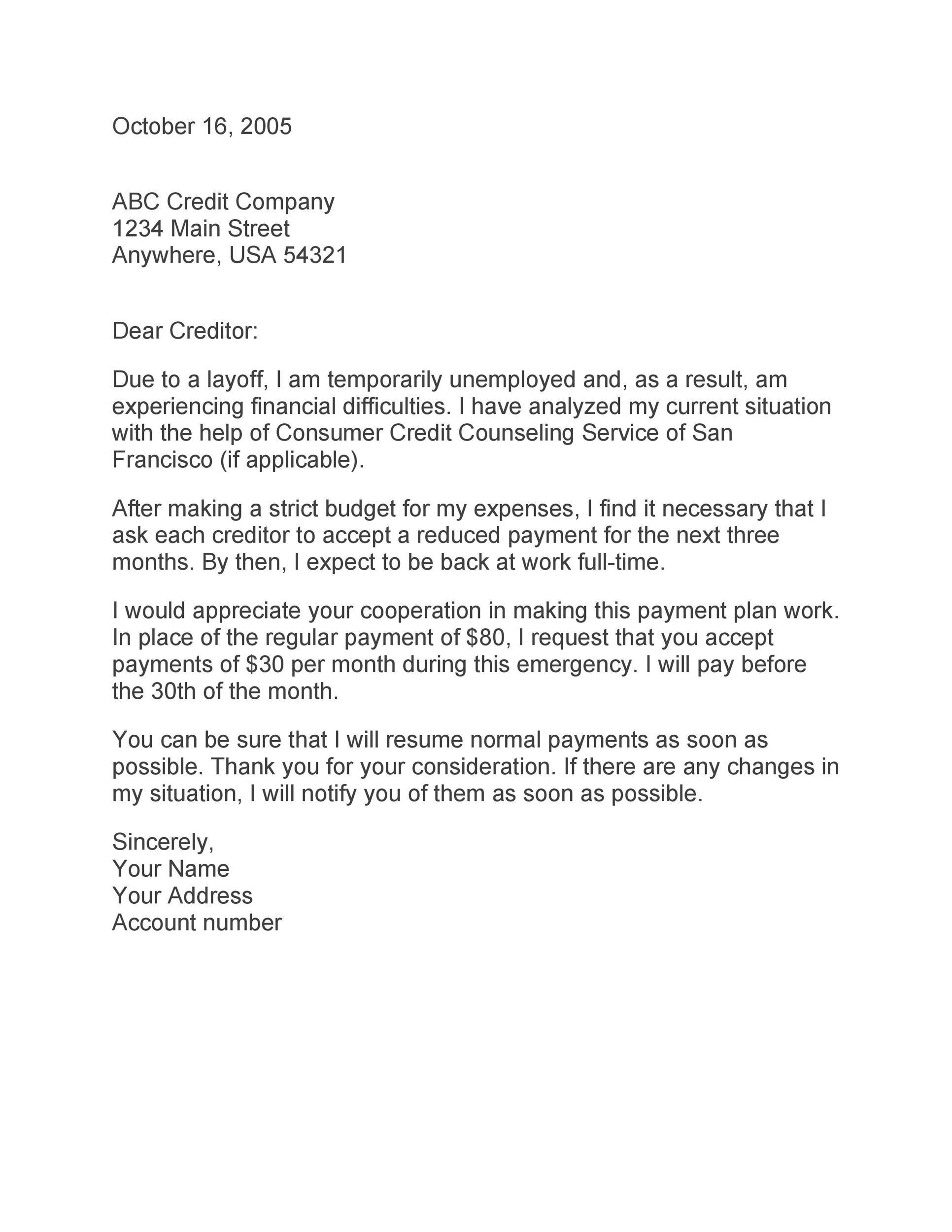 sample letter stating i pay rent