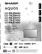 sharp aquos tv nz manual