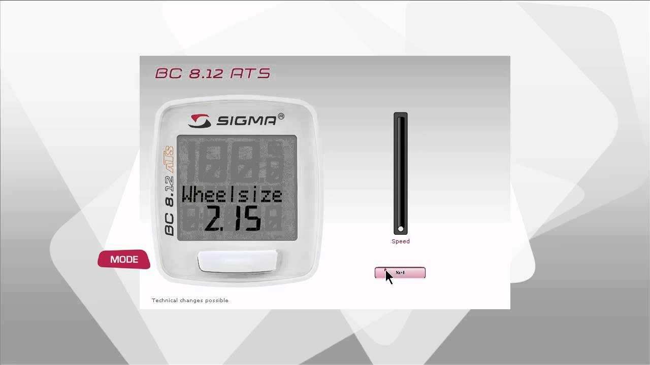 sigma bc 8.12 manual