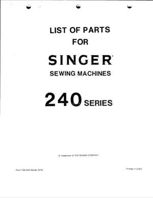 singer 248 service manual