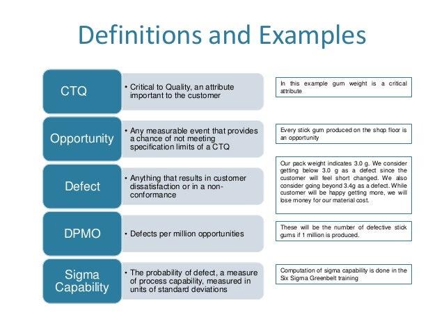six sigma examples pdf