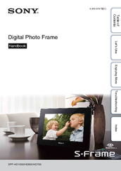 sony digital photo frame instruction manual