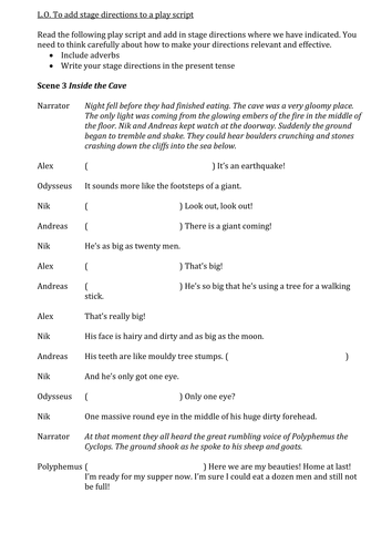 stage play script sample