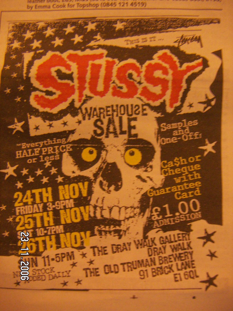 stussy sample sale