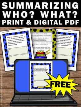 summarizing worksheets pdf