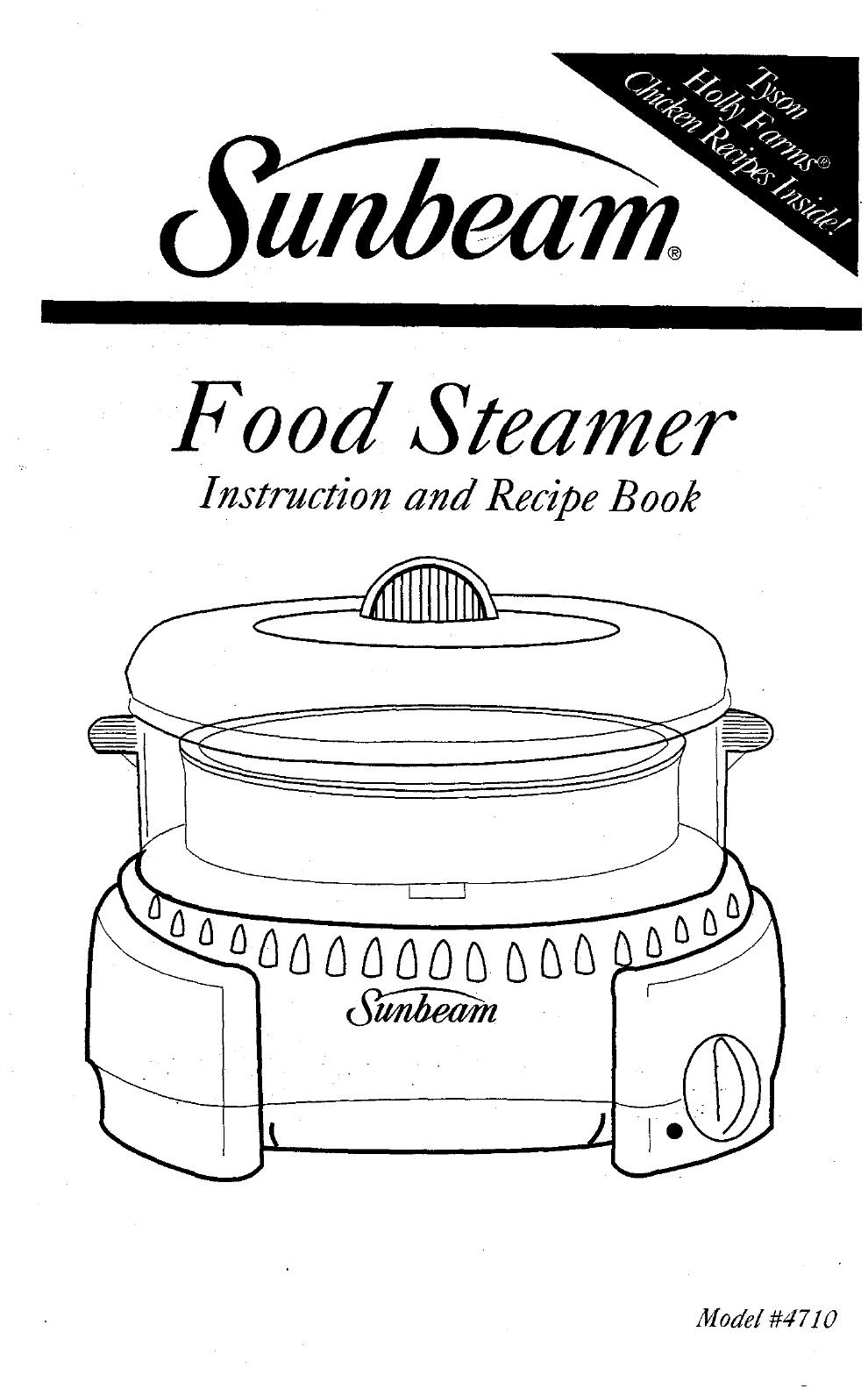 sunbeam food steamer manual