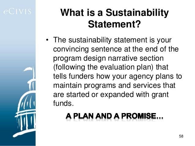 sustainability sentence sample