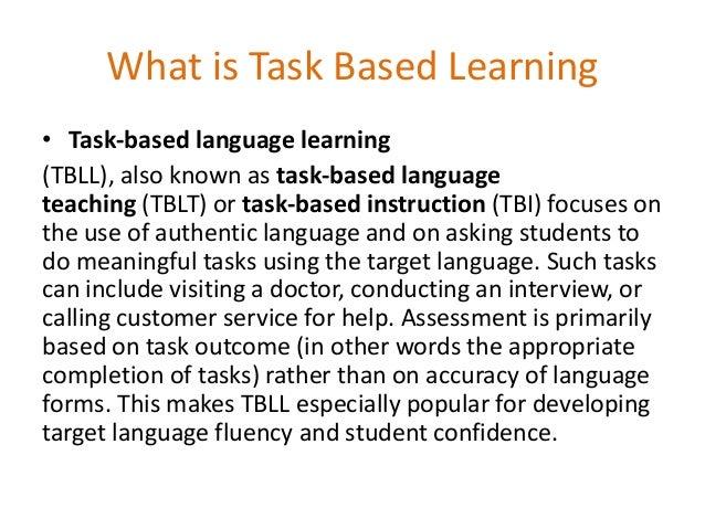 task based learning pdf