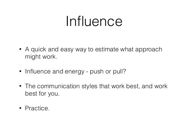 the art of influence pdf