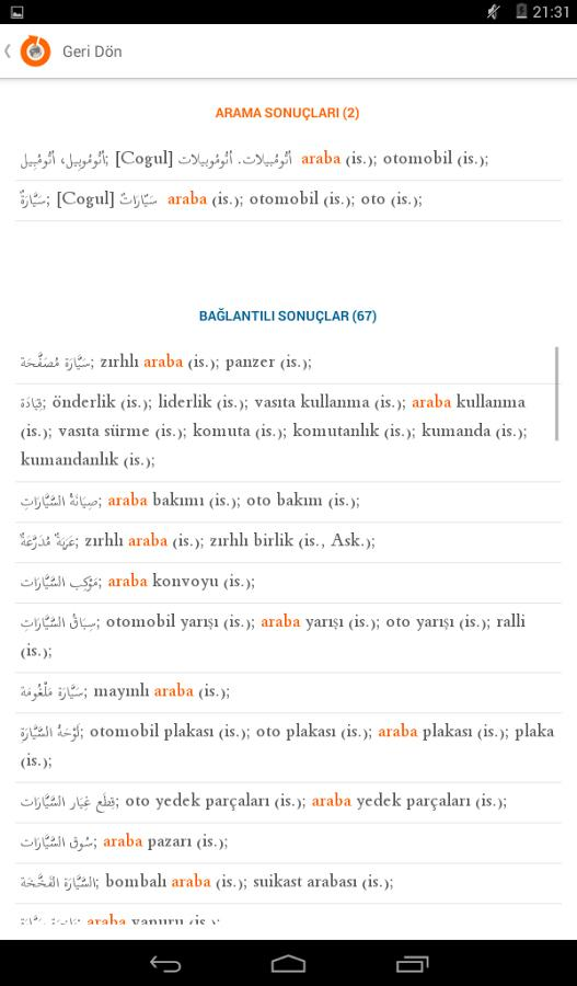 turkish arabic dictionary free download