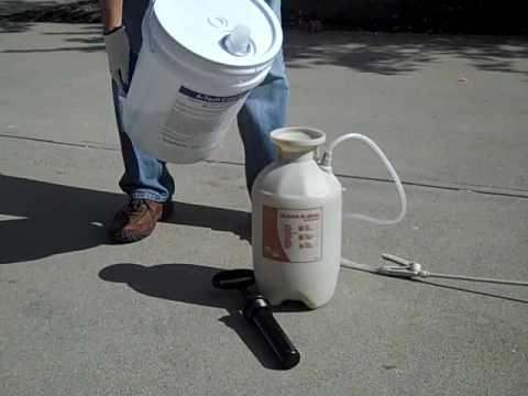 water based concrete sealer application