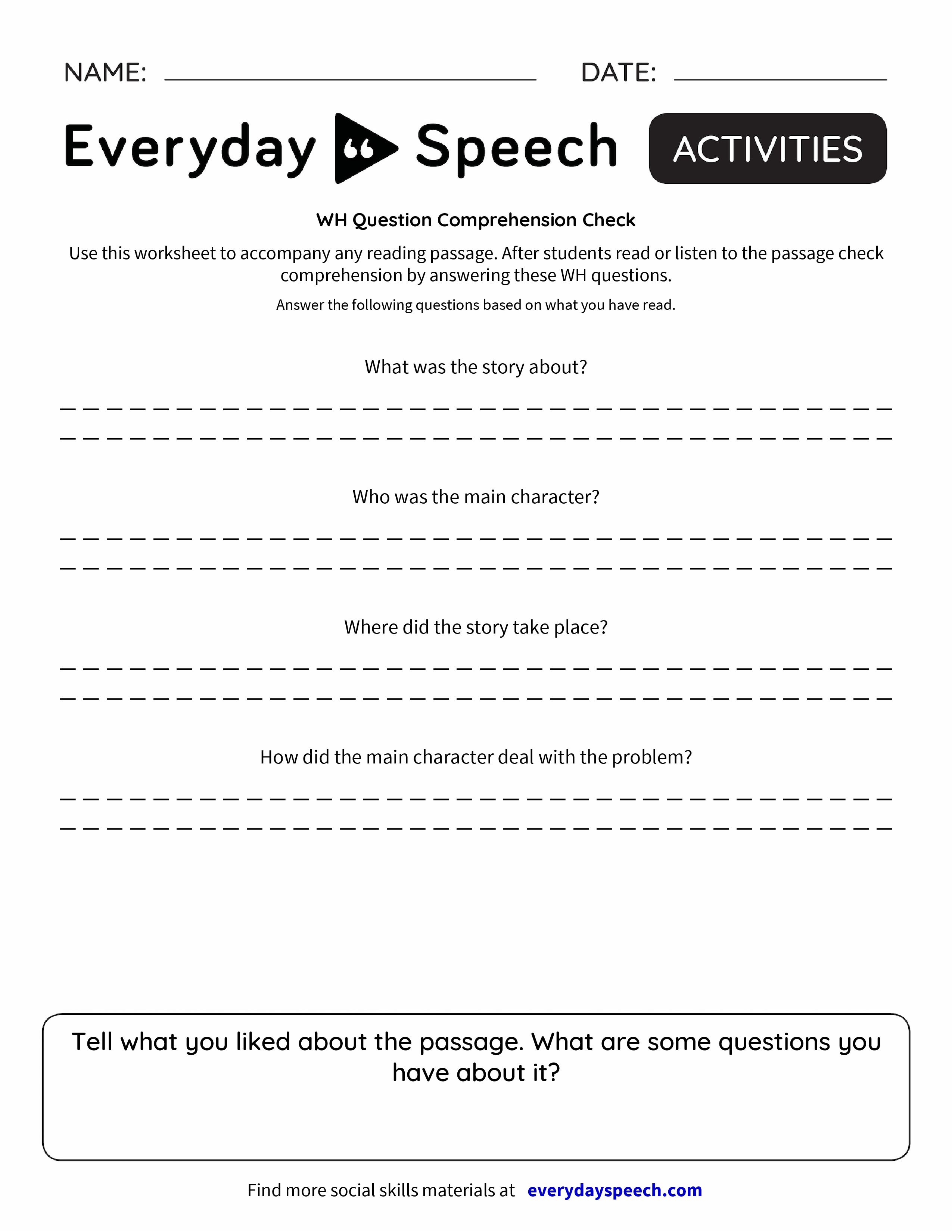 wh questions and answers pdf
