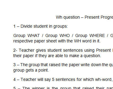 wh questions present continuous exercises pdf