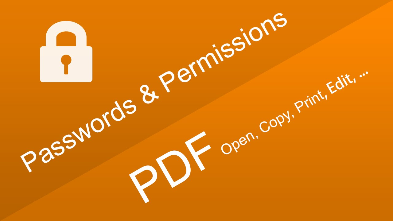 what is permission password for pdf