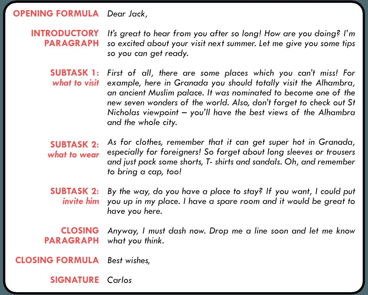 writing instructions level 2